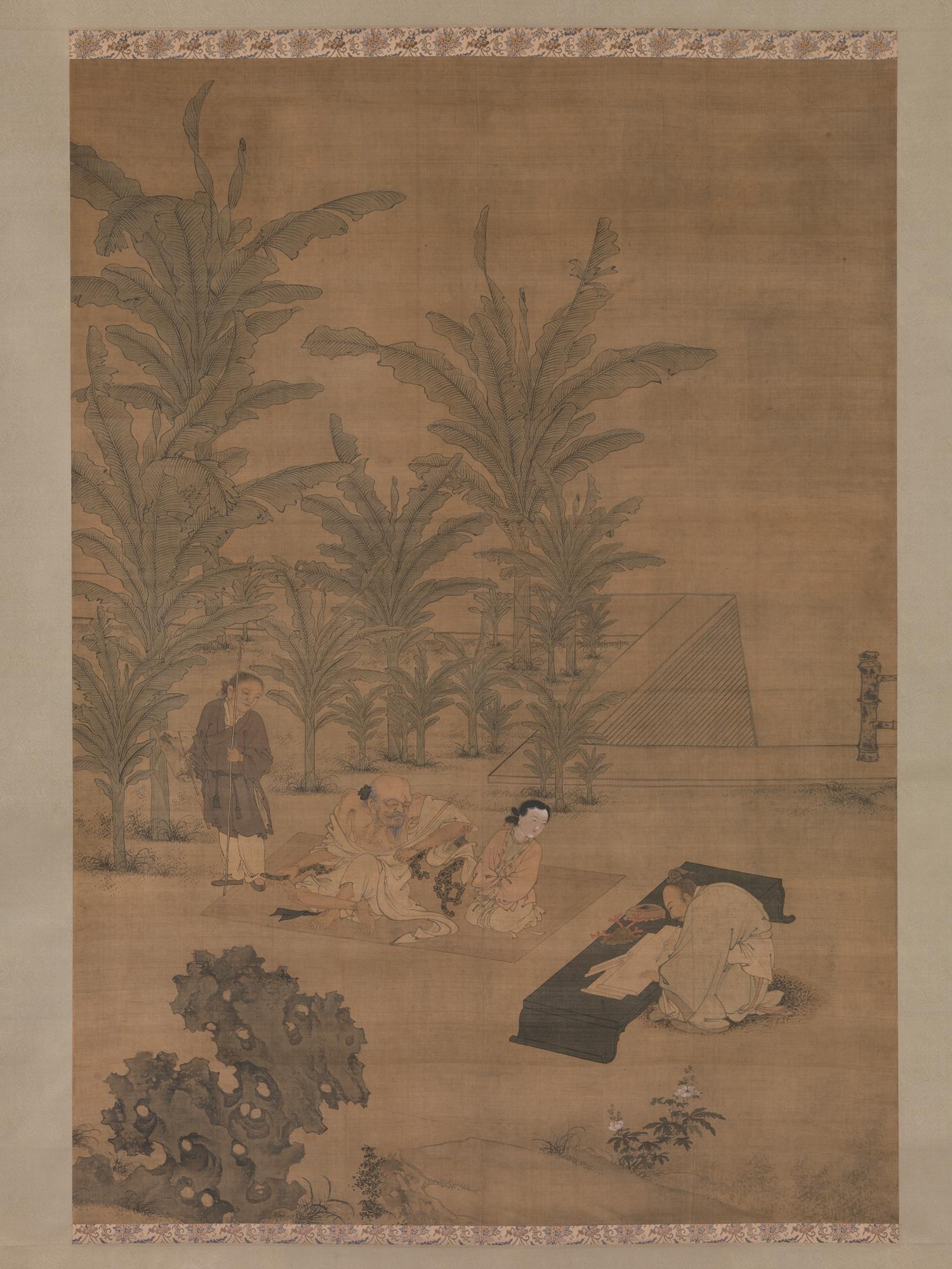 Du Jin   The Scholar Fu Sheng Transmitting the Book of Documents ...