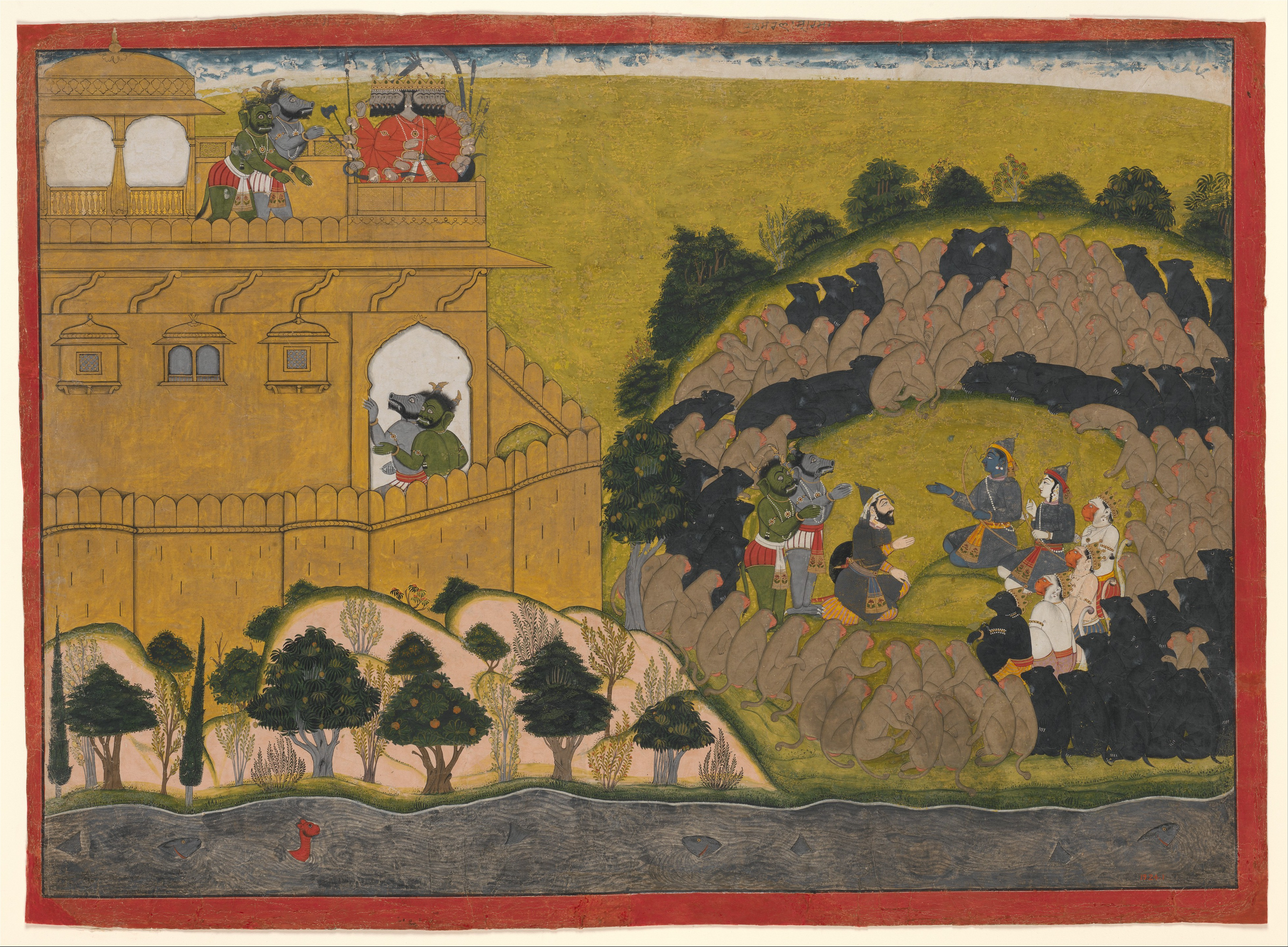 Attributed to Manaku | Rama Releases the Demon Spies Shuka