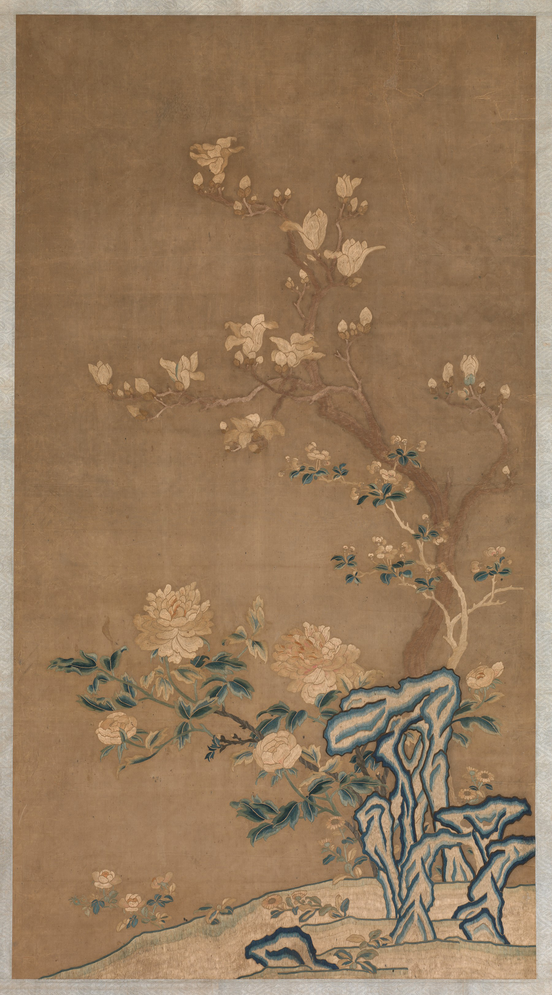 Magnolia Crabapple And Tree Peony China Qing Dynasty 1644 1911 The Metropolitan Museum Of Art
