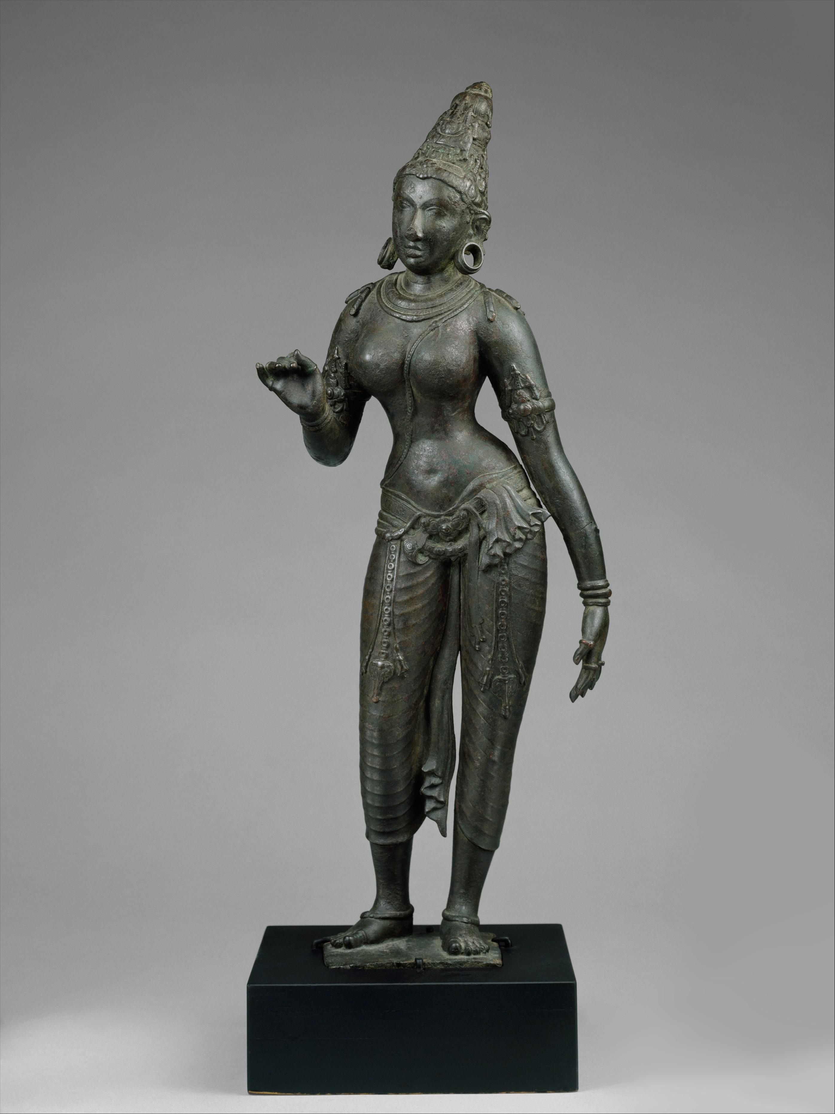 Standing Parvati   Indian (Tamil Nadu)   Chola period   The Metropolitan  Museum of Art