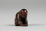 Netsuke, Wood lacquered and decorated with gold, Japan