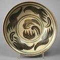 Dish with Floral Design, Stoneware with underglaze iron-oxide design, Thailand (Kalong)