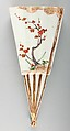 One of a Pair of Fan-Shaped Hanging Wall Vases, Porcelain with overglaze enamels and gold (Hizen ware, Ko Imari type), Japan