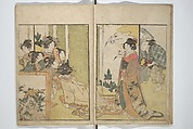 Picture Book on Flowers of the Four Seasons (Ehon shiki no hana), Kitagawa Utamaro (Japanese, ca. 1754–1806), Set of two woodblock printed books; ink and color on paper, Japan