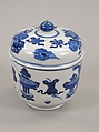 Jar with Cover, Porcelain decorated in underglaze blue, China