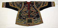 Theatrical armor with dragons, Silk and metallic thread tapestry (kesi), China