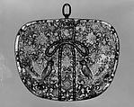 Keman (Decorative Pendant Disk), Gilt bronze and silver, Japan