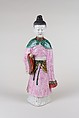 Figure of Lady, Porcelain painted in overglaze polychrome enamels, China