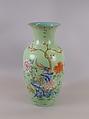 Vase, Porcelain painted in overglaze polychrome enamels, China