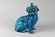 Figure of a Dog, Porcelain with turquoise glaze, China