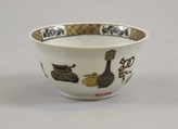 Cup, Porcelain painted in overglaze black enamel and gilt, China