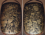 Case (Inrō) with Design of Flowers and Grasses, Lacquer, roiro, gold and silver hiramakie; Interior: nashiji and fundame, Japan