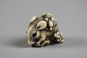 Rat with Three Young, Ivory, Japan