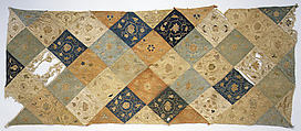Embroidered Patchwork Panel, Silk and gilt paper, China