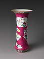 Vase with Flowers, Porcelain painted with colored enamels over transparent glaze (Jingdezhen ware), China