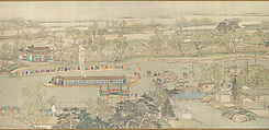 The Qianlong Emperor's Southern Inspection Tour, Scroll Six: Entering Suzhou along the Grand Canal, Xu Yang (Chinese, active ca. 1750–after 1776) and assistants, Handscroll; ink and color on silk, China