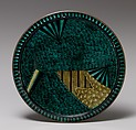 Plate with Design of Fans, Porcelain with overglaze enamels (Hizen ware, Ko Kutani style), Japan
