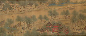 Spring Festival on the River, Unidentified Artist, Handscroll; ink and color on silk, China