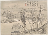 Winter Landscapes and Flowers, Qian Weicheng (Chinese, 1720–1772), Album of twelve paintings; ink and color on paper, China