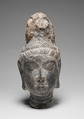 Head of Bodhisattva, Marble covered with lime deposit, China