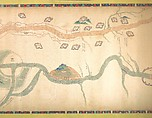 Map of the Grand Canal from Beijing to the Yangzi River, Unidentified Artist Chinese, late 18th or early 19th century, Handscroll; ink and color on silk, China