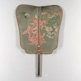 Interknotted Ornament with Tassels, Fan: silk, bamboo, and paper; tassel: knotted silk, China