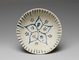 Bowl with Five-Petaled Flower, Earthenware with painted decoration on slip and clear glaze, China