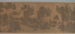 Retreats in the Spring Hills, Unidentified Artist, Handscroll; ink and color on silk, China