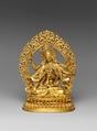 Buddhist Deity, Ushnishavijaya (Zun Sheng fo mu), Gilt brass; lost-wax cast, China