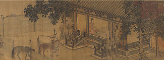 Duke Wen of Jin Recovering His State, Attributed to Li Tang (Chinese, ca. 1070s–ca. 1150s), Handscroll; ink and color on silk, China
