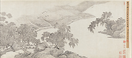 Whiling Away the Summer, Wu Li (Chinese, 1632–1718), Handscroll; ink on paper, China