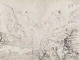 The Sixteen Luohans, Shitao (Zhu Ruoji) (Chinese, 1642–1707), Handscroll; ink on paper, China