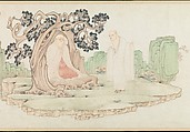 The Sixteen Luohans, Wu Bin (active ca. 1583–1626), Handscroll; ink and color on paper, China