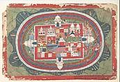 Page from a Dispersed Bhagavata Purana Manuscript (Life of Krishna), Distemper on paper, Nepal (Kathmandu Valley)
