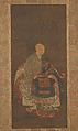 Portrait of Shun'oku Myōha, Unidentified Artist Japanese, Hanging scroll; ink, color, and gold on silk, Japan