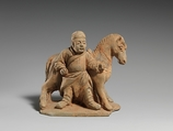 Horse and Groom, Earthenware, China