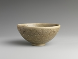 Tea Bowl with Marbleized Veneer, Earthenware with glaze (Cizhou ware), China