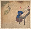Portraits of members of a Manchu family, Unidentified Artist, Album of nineteen leaves; ink and color on silk, China