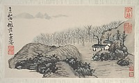 Landscapes of the Four Seasons, Shitao (Zhu Ruoji) (Chinese, 1642–1707), Album of eight leaves; ink and color on paper, China