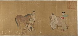 Judging a Horse, Unidentified Artist, Handscroll; ink and color on silk, China