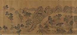Wangchuan Villa, Unidentified Artist, Handscroll; ink and color on silk, China