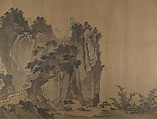 River Landscape after Xia Gui, Unidentified Artist, Handscroll; ink and color on silk, China