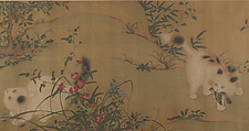 Spring Play in a Tang Garden, Unidentified Artist, Handscroll; ink and color on silk, China