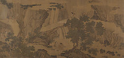 Daoist Immortals in a Landscape, Unidentified Artist Chinese, 16th century, Handscroll; ink and color on silk, China