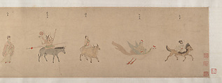 Divinities of the Planets and Constellations, Attributed to Qiu Ying (Chinese, ca. 1495–1552), Handscroll; ink and color on paper, China