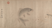 The Pleasures of Fishes, Zhou Dongqing (Chinese, active late 13th century), Handscroll; ink and color on paper, China