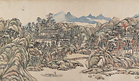Wangchuan Villa, Wang Yuanqi (Chinese, 1642–1715), Handscroll; ink and color on paper, China