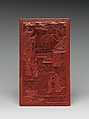 Pair of Screens with Landscapes and Flowers and Birds, Carved red lacquer, China