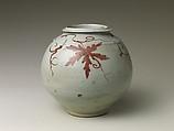 Jar with grapevine decoration, Porcelain with underglaze copper-red design, Korea