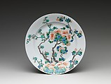 Dish, Porcelain painted in overglaze famille verte enamels, China
